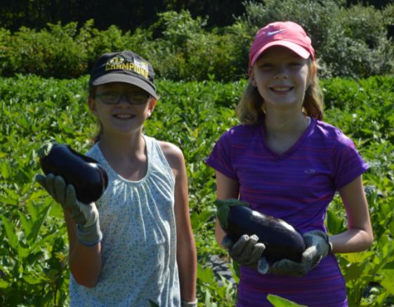 girls with eggplant